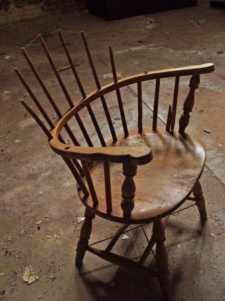 Its A Broken Wooden Chair