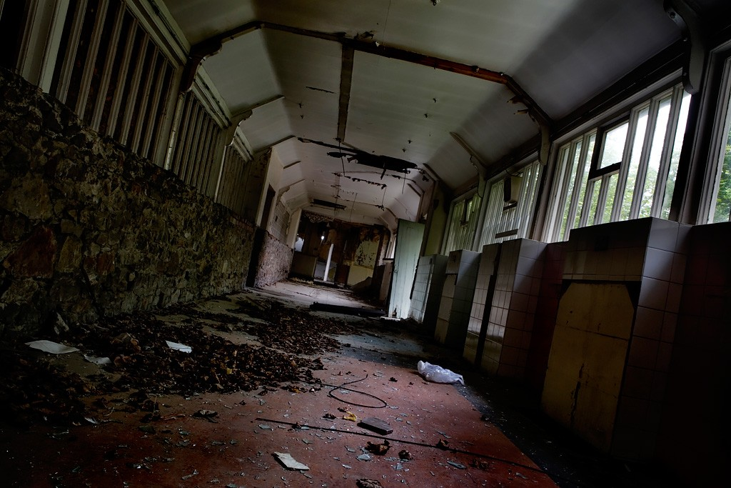 Hallway Leaves Photo Of The Abandoned North Wales Hospital Denbigh Asylum