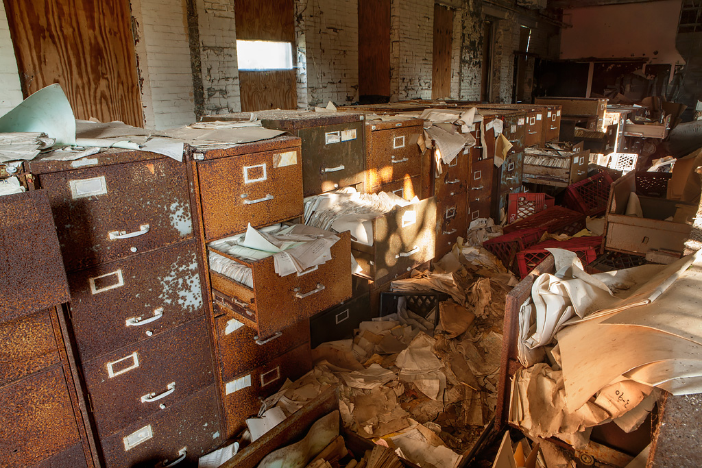 M And M Auto >> Piles of Files - Photo of Hart Island