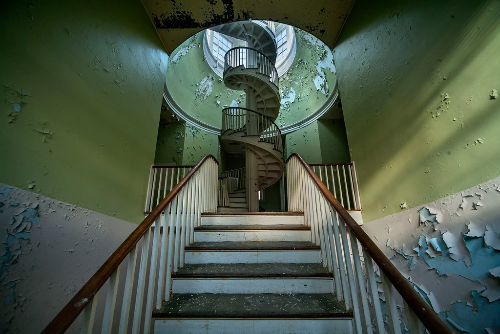 Circular Photo Of The Abandoned Western State Hospital