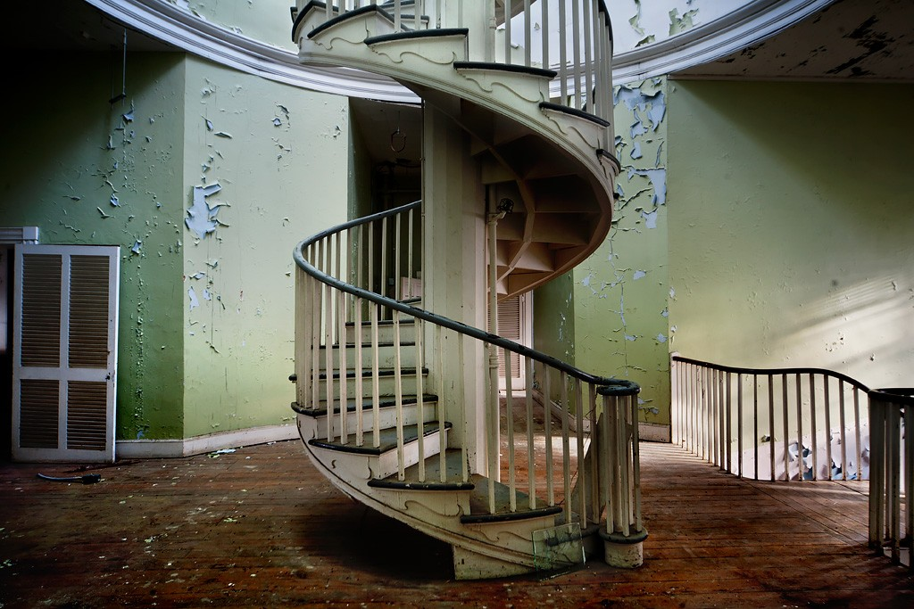 Spiral Photo Of The Abandoned Western State Hospital Virginia