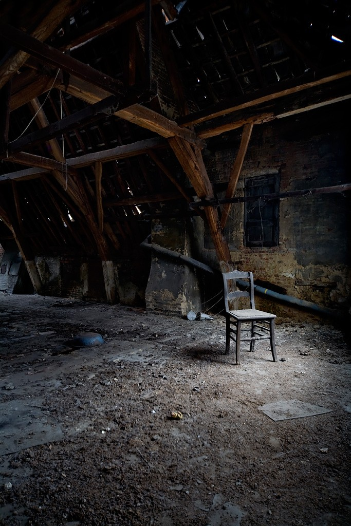 Attic Seat - Photo of the Abandoned Valmea Convent