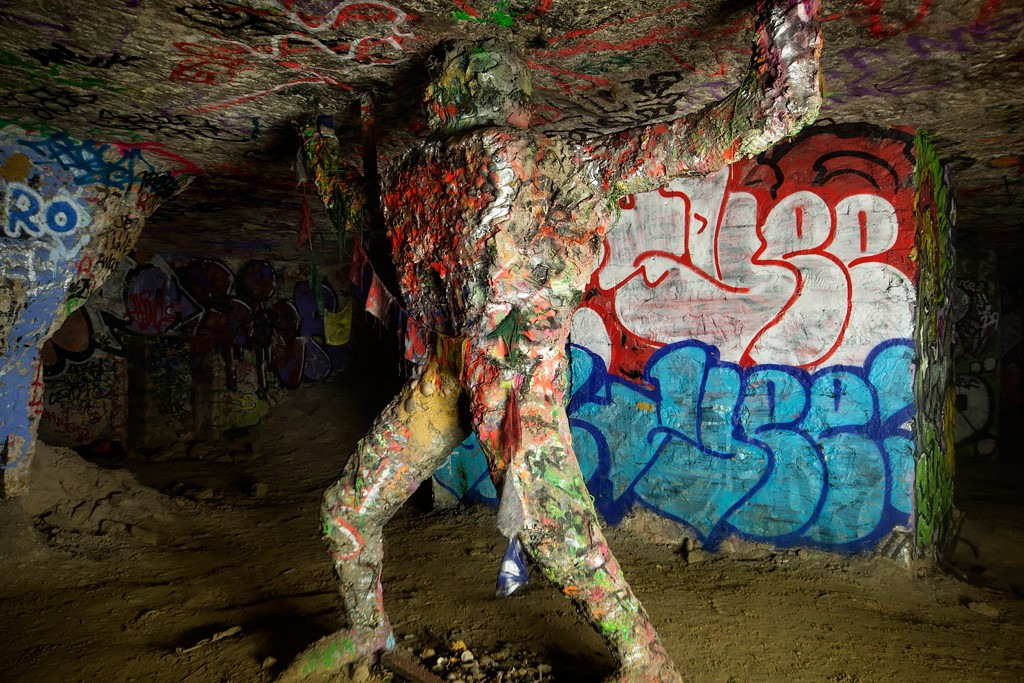 Weight of the World - Photo of the Abandoned Paris Catacombs
