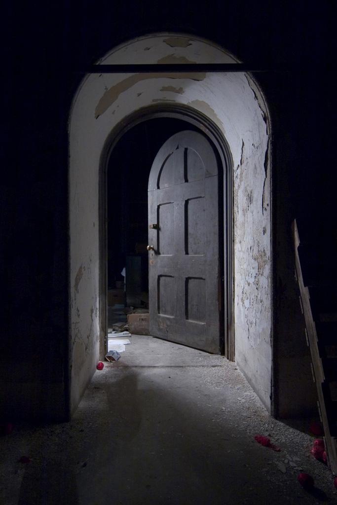 & Basement Door - Photo of the Abandoned Buffalo State Hospital