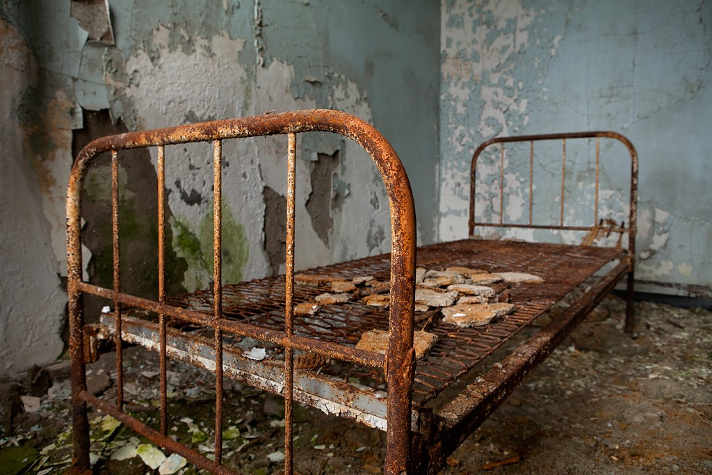 Rusted Frame Photo Of The Abandoned Middletown State