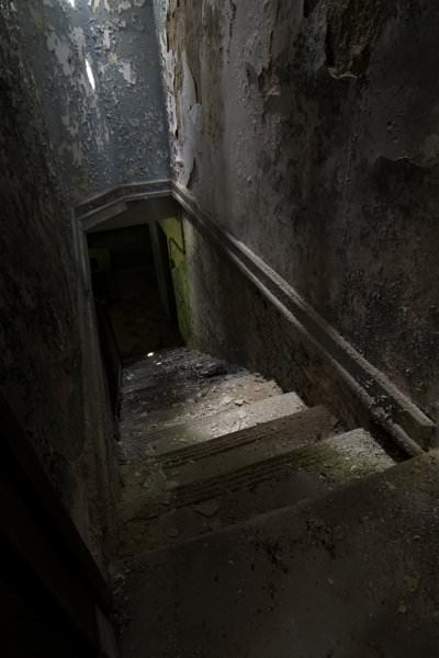 dark basement stairs. Basement Stairs  Photo of the Abandoned Fuller State School and Hospital
