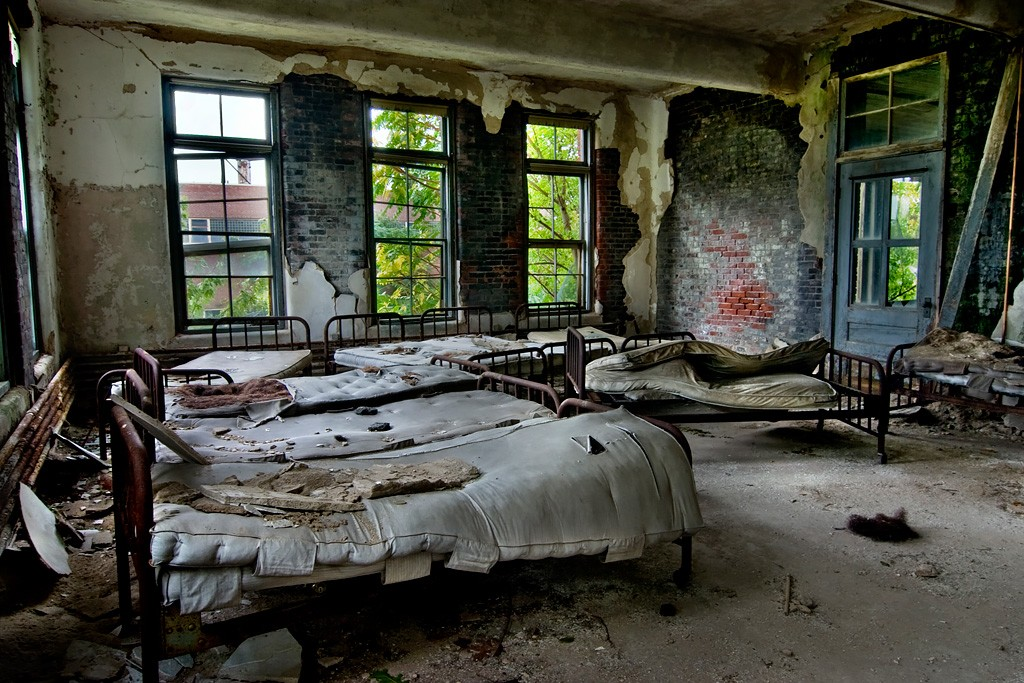 Crowded Ward Photo Of The Abandoned Norwich State Hospital