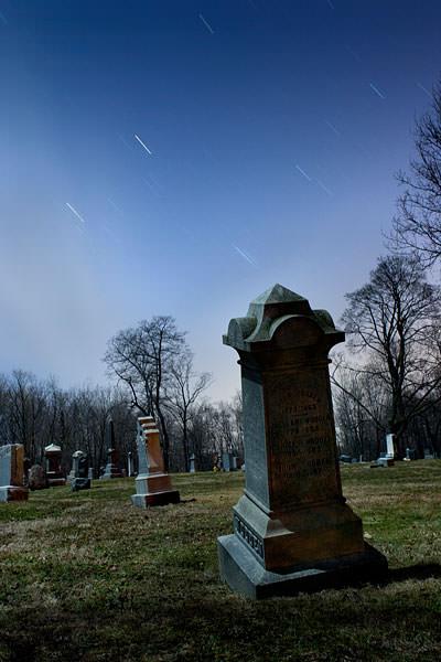 Glenwood Cemetery NY full moon