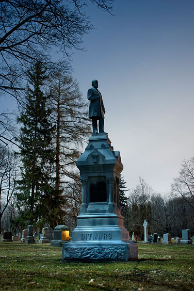 Full moon cemetery monument