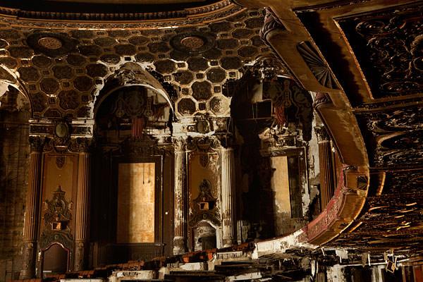 abandoned theater box seats