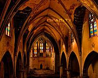 Wallpaper of the abandoned Church of the Transfiguration (Buffalo)